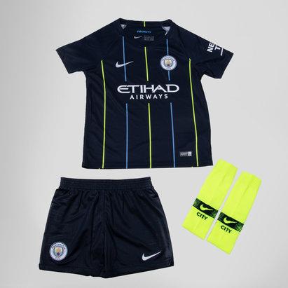 Manchester City 18/19 - Kit de Foot Extérieur Jeunes Enfants