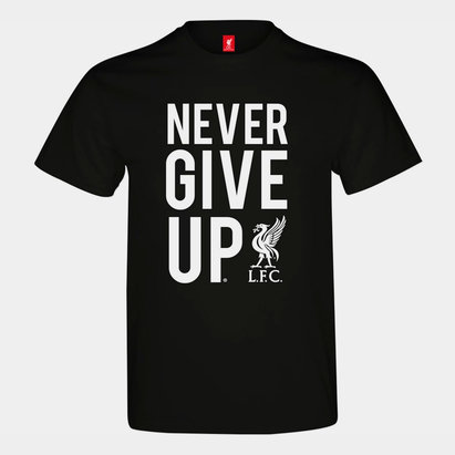 Source Lab T-shirt Liverpool pour hommes, Never Give Up