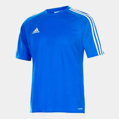 adidas Sereno, 3 Bande, T-shirt pour hommes en Bleu et blanc