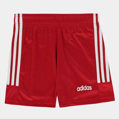 adidas 3 Bandes, Short rouge et blanc pour enfants