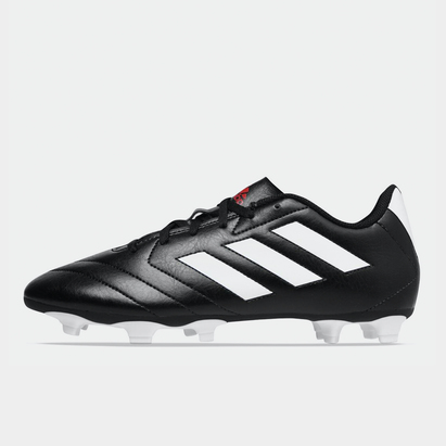 adidas Crampons de football pour hommes, Terrain sec, adidas Goletto en noir et blanc