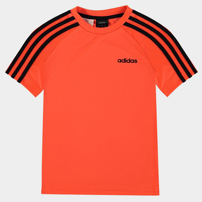 adidas Sereno 3 Bandes, T-shirt Orange et noir pour enfants