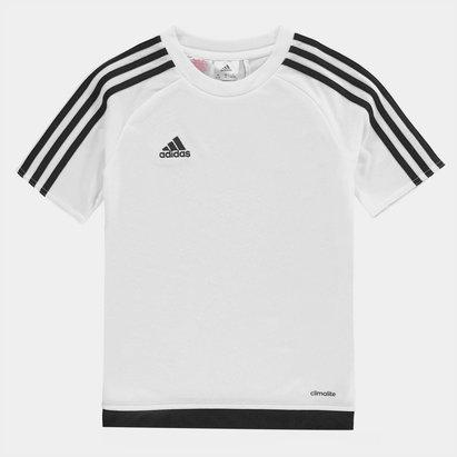 adidas Sereno 3 Bandes, T-shirt Blanc et noir pour enfants