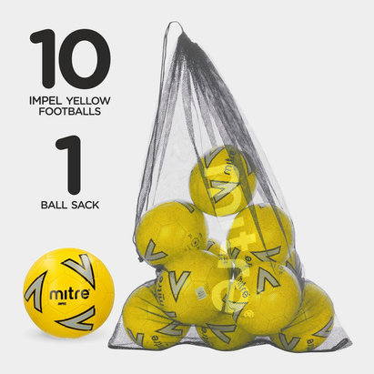 Mitre Pack de Football Impel, 1 sac, 10 ballons