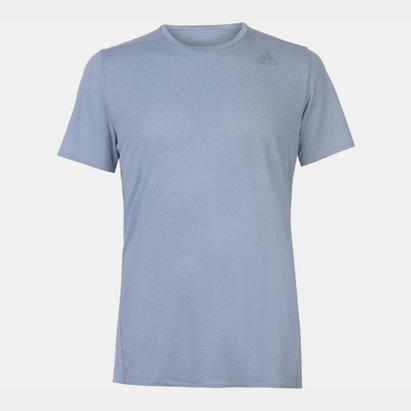 adidas Supernova, T-shirt gris pour hommes