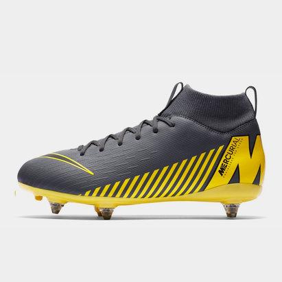 Nike Mercurial Superfly Academy, Crampons de Football pour enfants défenseurs, terrain mou