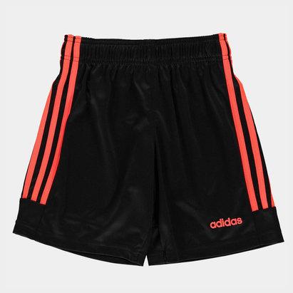 adidas 3 Bandes, Short noir et rouge pour enfants