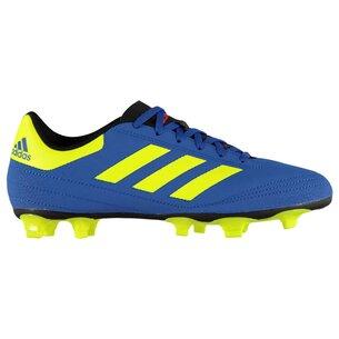 adidas Crampons de football pour hommes, Terrain sec, adidas Goletto en bleu et jaune