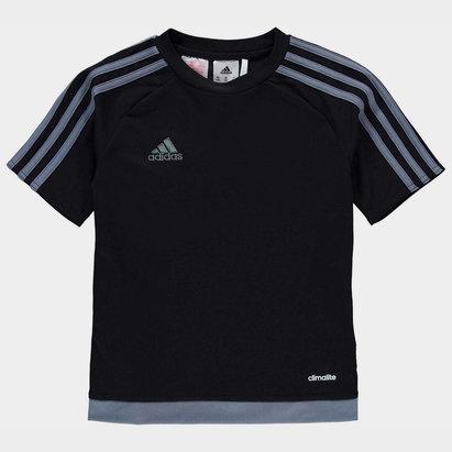 adidas Sereno 3 Bandes, T-shirt noir et gris pour enfants