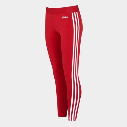adidas 3 Bandes Legging rouge pour femmes