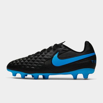 Nike Crampons de football pour terrain dur/sec, Tiempo Legend Club pour enfants