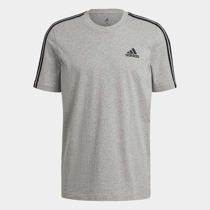 adidas 3 Bandes, T-shirt gris/noir pour hommes