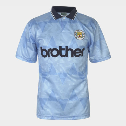 Score Draw Maillot de football retro Manchester City 1989