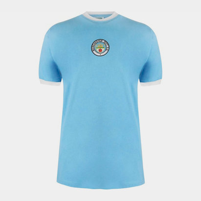 Score Draw Maillot de football, Manchester City Domicile 1972