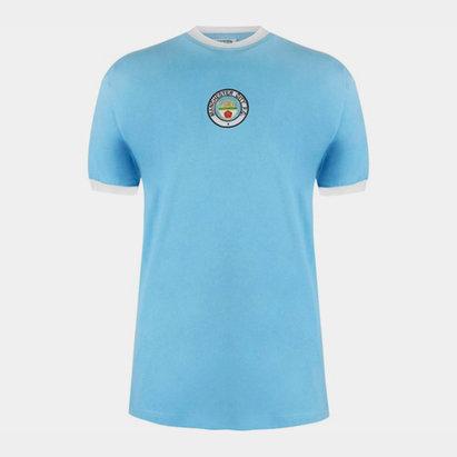 Score Draw Maillot de football, Manchester City Domicile 1972