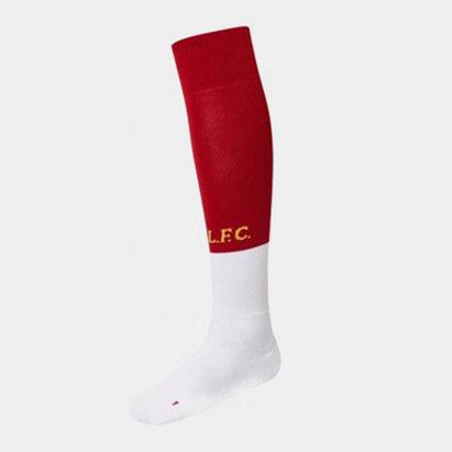 New Balance Chaussettes Liverpool blanches/rouges domicile 2019/2020