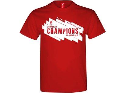 Source Lab T-shirt pour hommes, Liverpool Champions d'Europe