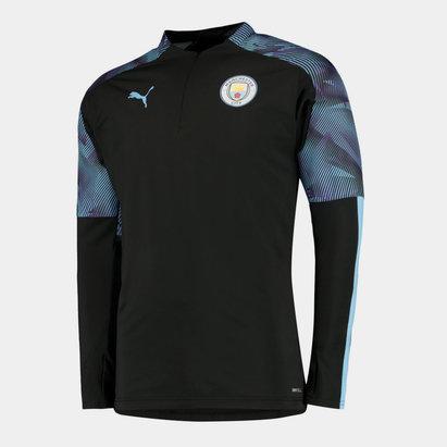 Puma Haut d'entrainement pour enfants; 1/4 de zip, Manchester City 2019/2020