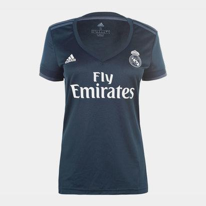 adidas Maillot de football, Real Madrid extérieur 2018/2019 pour femmes