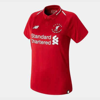 New Balance Maillot de football pour femmes, Liverpool Champions d'Europe 6 fois