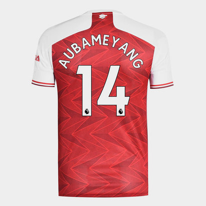 adidas Arsenal Pierre Emerick Aubameyang Home Shirt 20/21 Mens