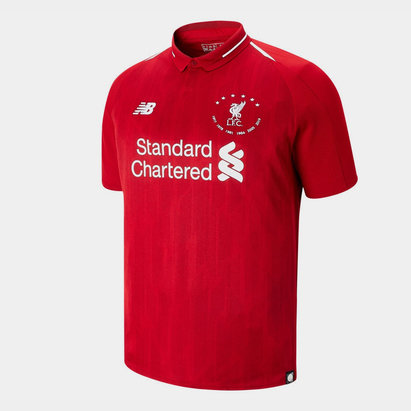 New Balance Maillot de football pour hommes, Liverpool 6 fois champions