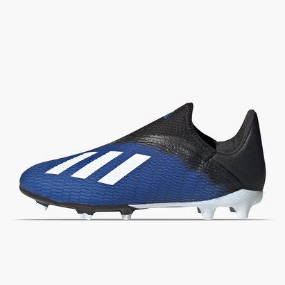 adidas X 19.3 Crampons de Football FG sans lacets pour enfants,