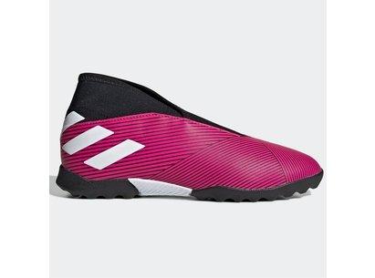 adidas Nemezis 19.3, Chaussures de football sans lacets pour enfants, Terrain Synthétique
