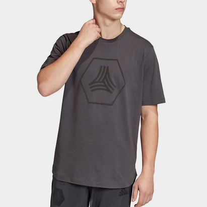 adidas Logo Tango, t-shirt gris pour homme