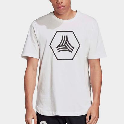 adidas Logo Tango, t-shirt blanc pour homme