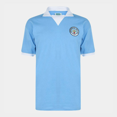 Score Draw Maillot de Football Retro, Manchester City 1976