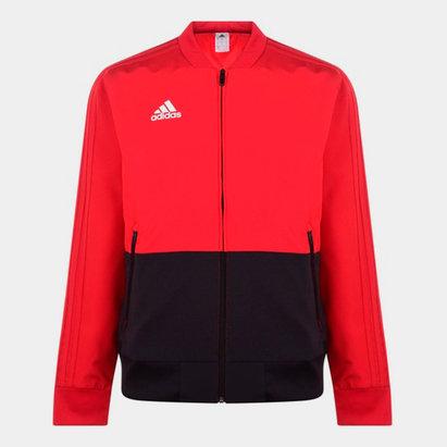 adidas Veste Pre Match rouge pour homme