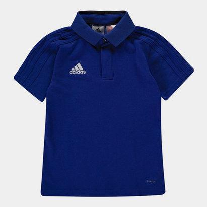 adidas Condivo, Polo bleu pour enfants