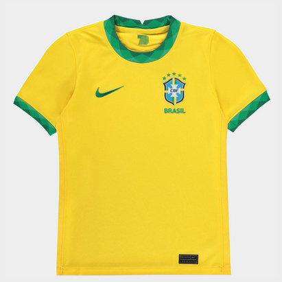 Nike Brazil 2020 Kids Home Football Shirt