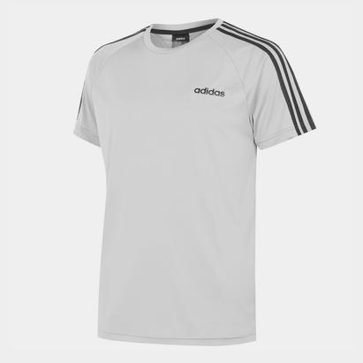 adidas Classic 3 Stripe Sereno T Shirt Mens