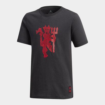 adidas Manchester United DNA T Shirt 20/21 Kids