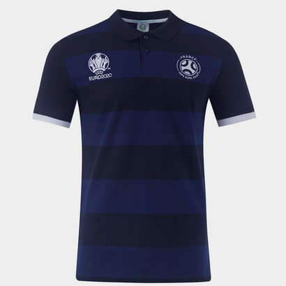 UEFA Euro 2020 France Stripe Polo Mens