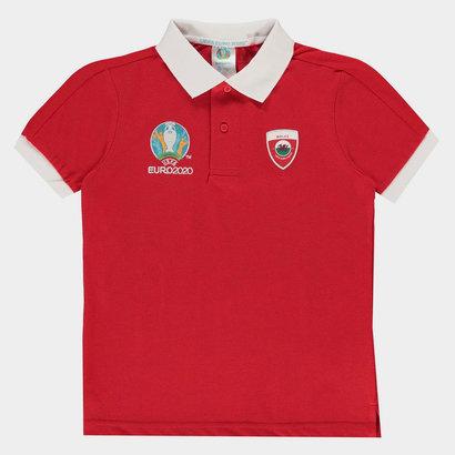 UEFA Euro 2020 Wales Polo Shirt Junior Boys
