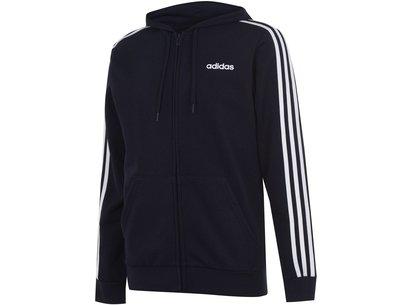adidas 3 Stripe Zip Hoodie Mens