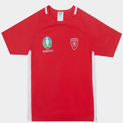 UEFA Euro 2020 Switzerland Polyester T Shirt Junior