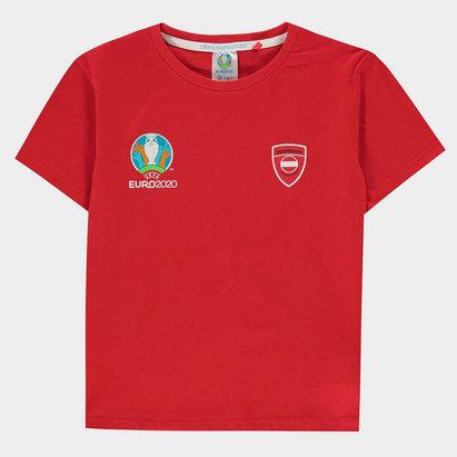 UEFA Euro 2020 Austria Core T Shirt Junior Boys
