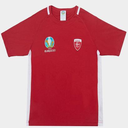 UEFA Euro 2020 Denmark Polyester T Shirt Junior