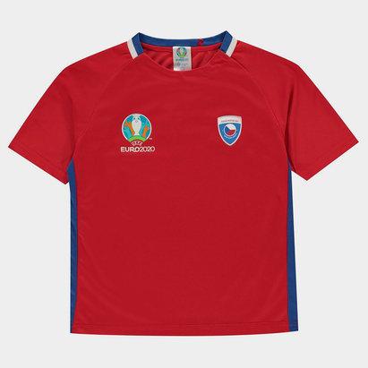 UEFA Euro 2020 Czech Republic Polyester T Shirt Junior