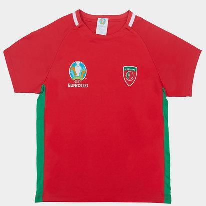 UEFA Euro 2020 Portugal Poly Tee Juniors