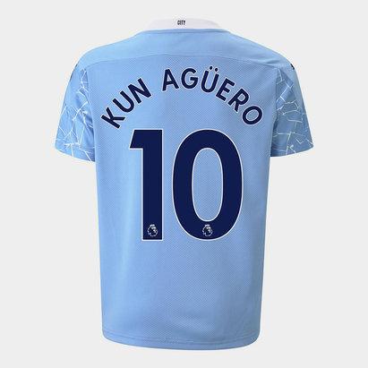 Puma Manchester City Sergio Aguero Home Shirt 20/21 Kids