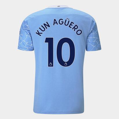 Puma Manchester City Sergio Aguero Home Shirt 20/21 Mens