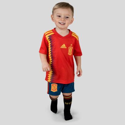 adidas Espagne 2018 Petits Enfants - Kit de Rugby Réplique Domicile