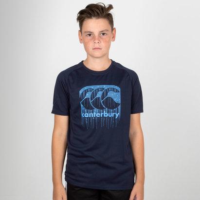 Canterbury Vapodri Poly Logo - Tshirt Adolescents