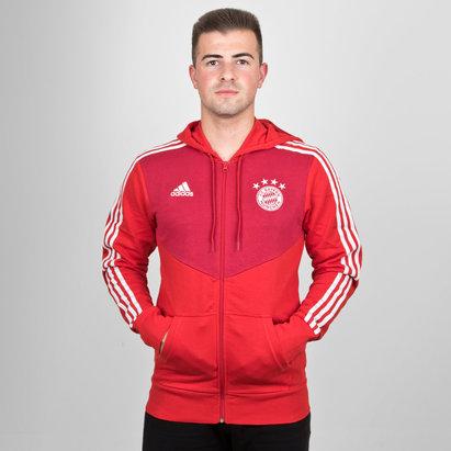 adidas Bayern Munich 18/19 - Pull à Capuche de Foot Zippé 3 bandes