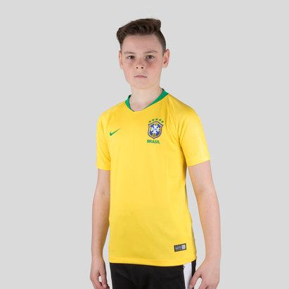 Nike Brésil 2018 - Maillot de Foot Réplique Stadium Domicile Enfants
